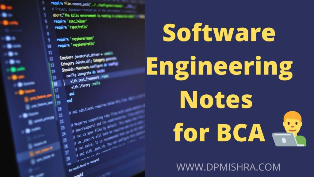 Software Engineering Notes for BCA