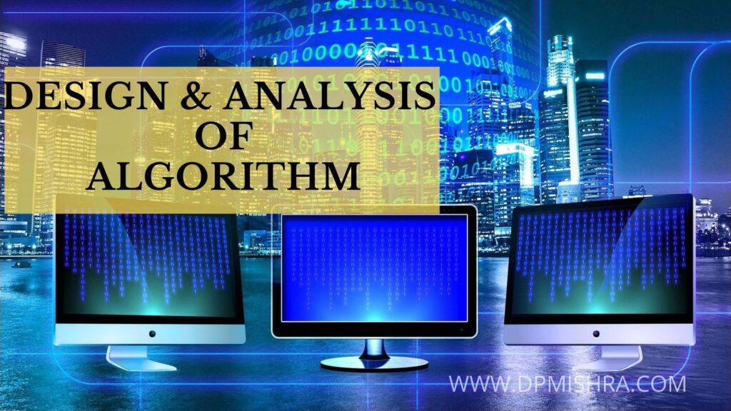 Design and Analysis of algorithm pdf