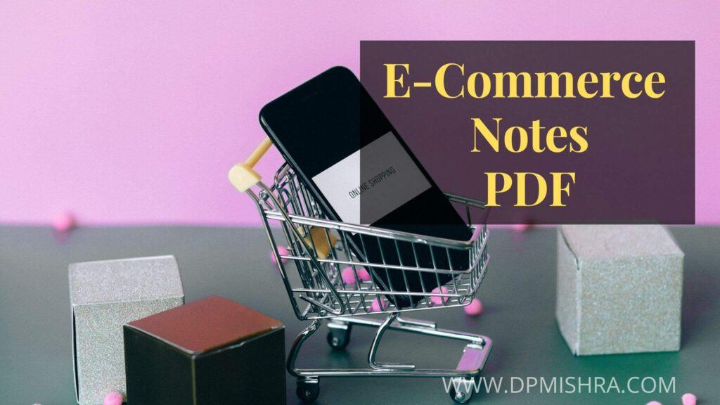 e commerce notes