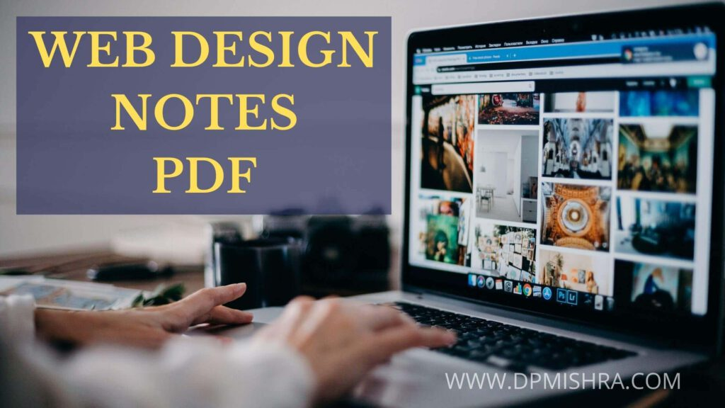 web designing notes for bca